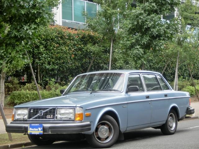 1980(S55)年 ボルボ 240セダン D車 右H 【GLE】本革シート 記録簿・取説有