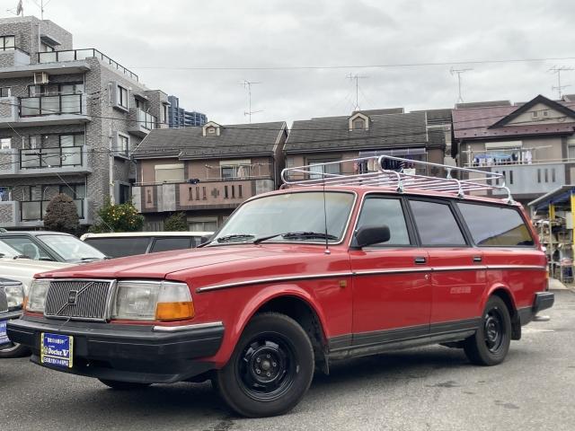 1990(H02)年 ボルボ 240ワゴン D車 右H GL 程度良好 鉄ホイール塗装済
